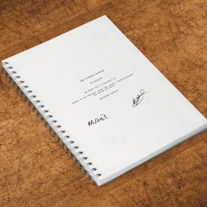 The Voorman Problem Signed Script
